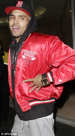 Altercation: Frank Ocean and Chris Brown are alleged to have got involved in a brawl in Los Angeles on Sunday night
