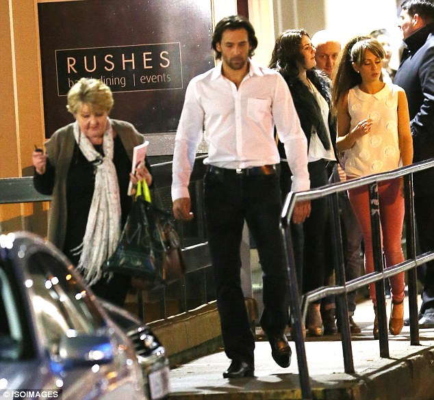 Just the three of us: Samia Ghadie and mum Patsy and Sylvain Longchambon were all seen exiting the building together