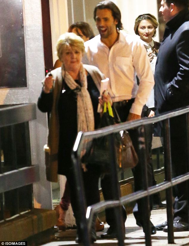 Family matters: Sylvain Longchambon seemed at ease as he left with Samia's mum Patsy