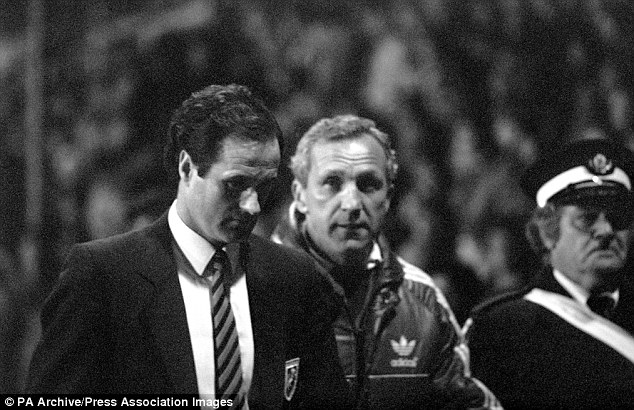 Appeal: Millwall manager George Graham took to the Tannoy to urge calm, but to little effect