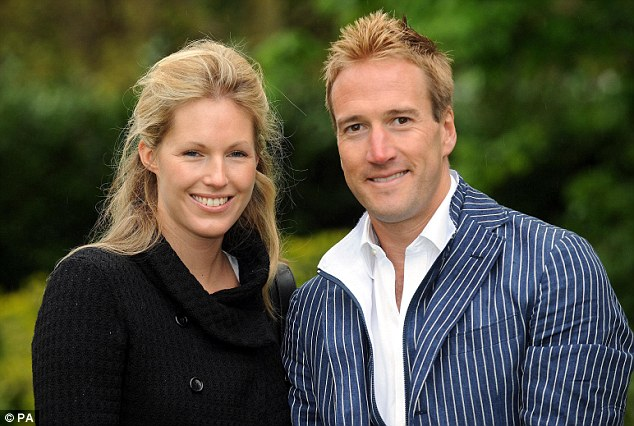 Couple: A former picture editor at high-society magazine Tatler, Ben Fogle (right) is friends with Prince William through his wife Marina Hunt (left), who briefly dated the royal at St Andrews University