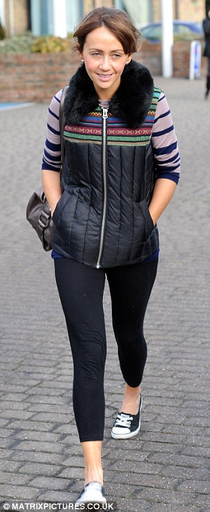 Making headlines: Samia Ghadie's car was pictured parked in a disabled bay on Monday as she left her London hotel