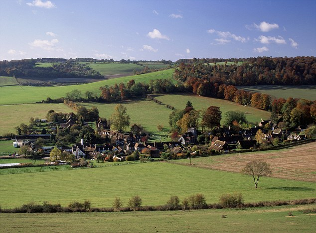 Idyllic: The countryside of Buckinghamshire, which is at risk of being spoiled by the HS2 rail ink