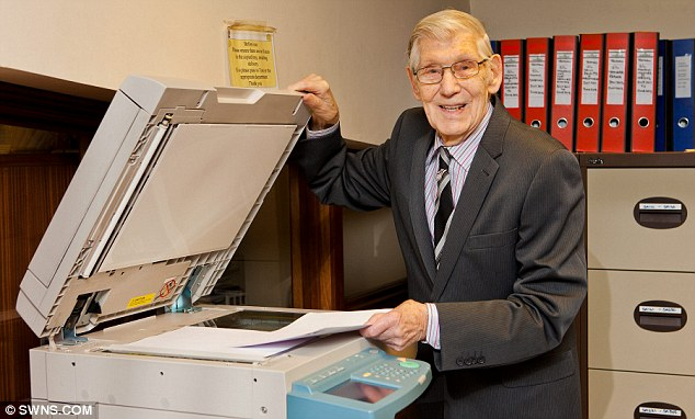 Dedicated: Mr Clements, one of eight children, says he could never give up work as it keeps him young