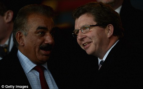 Recovery: Omar Khan's (left) Bradford will not receive their share of TV money this season after coming out of administration