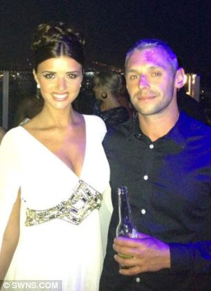 Lee Charie, an extra for The Only Way is Essex, is pictured with Towie star Lucy Meckienburgh