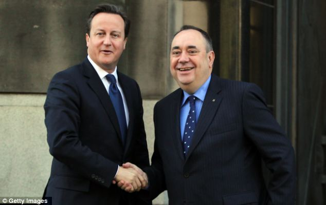 Mr Salmond last year struck a deal with David Cameron to hold a referendum on independence in autumn 2014
