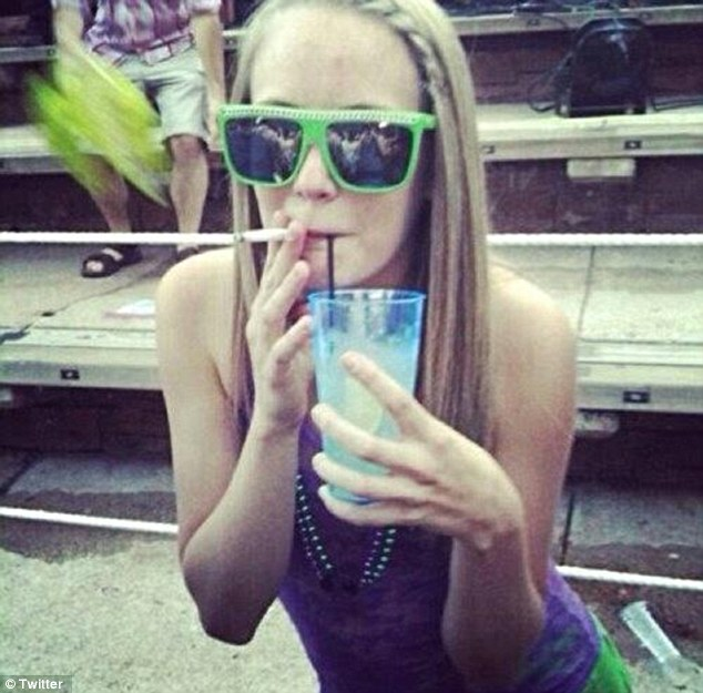 'Girl gone wild': McKinney joked on her Twitter account that she was grading papers while high and kept a stash of marijuana in her car on school property
