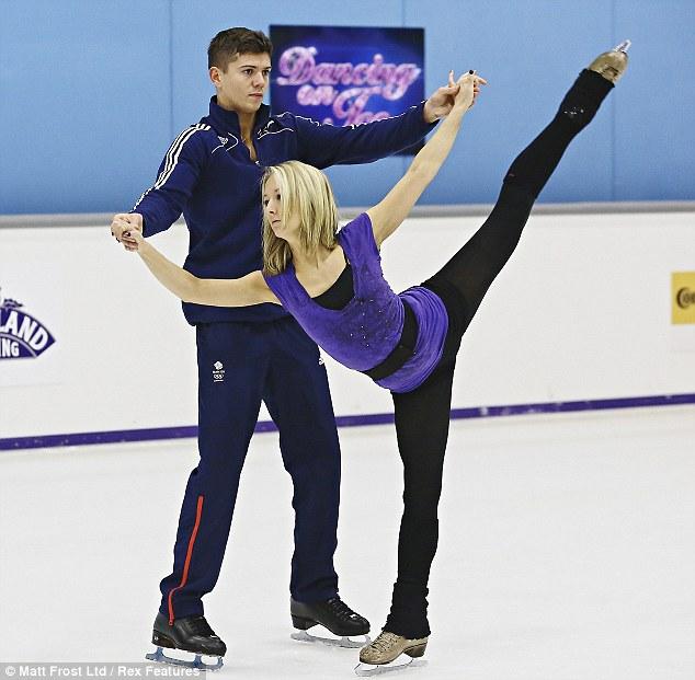 Flexible: Olympian boxer Luke Campbell and his partner Jenna Harrison rehearse