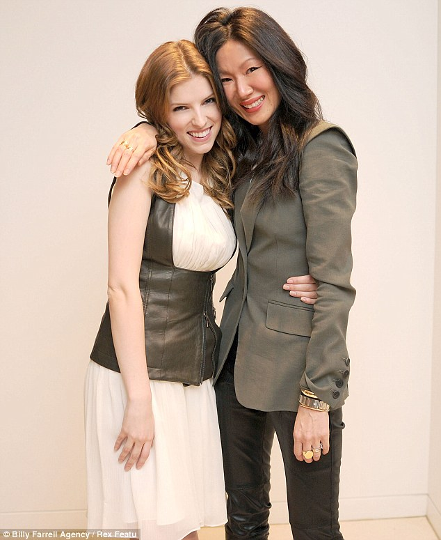 Style set: Anna and Marissa flashed wide grins as they posed at the event