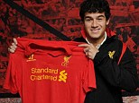 Philippe Coutinho signs for Liverpool
