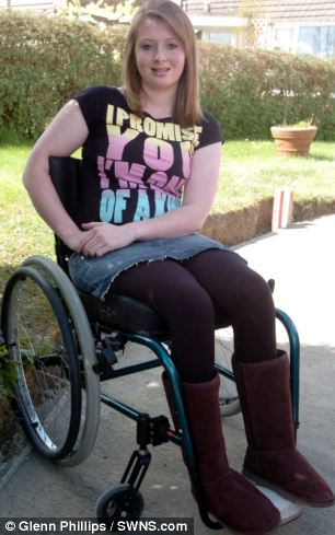 Paraplegic: Laura Coward was working at a racehorse training stables when she fell off Saucy Night