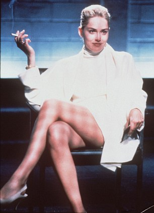 Copycat: The stunt was a clear attempt to recreate the famous scene starring Sharon Stone in the 1991 film Basic Instinct