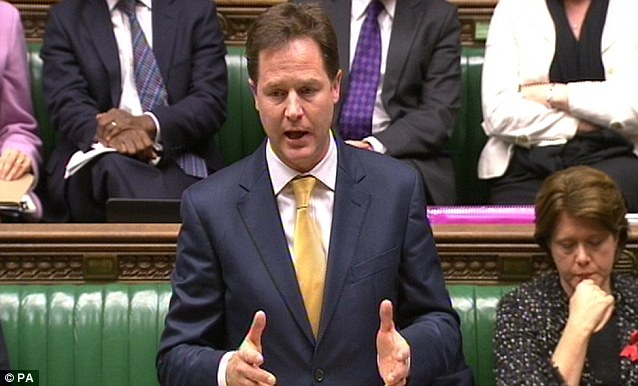 Vengful: This is not the behaviour of a serious politician. It is the behaviour of a vengeful adolescent. Mr Clegg has bitten off his nose to spite his face
