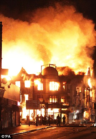 aRioting spread across the UK and saw the destruction of Reeves, a business that stood in Croydon for 140 years