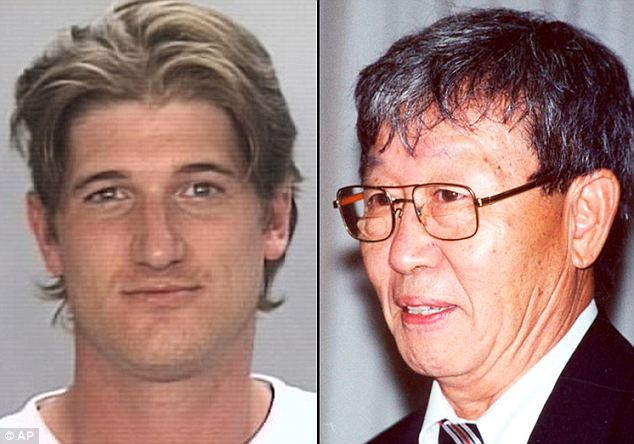 Caught: University of Missouri officials  implicated Timothy Aaron Hoag (left) in the January 7, 2005 stabbing death of 72-year-old Jeong Hyok Im (right), whose body was stuffed into the trunk of his car, which was then set on fire