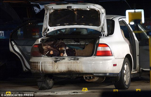 Graphic: Mr Im's body was found inside the trunk of this car after it was set on fire
