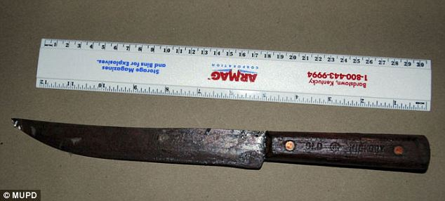 Weapon: Police believe that professor Im was stabbed to death with this knife in January 2005