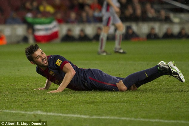 No go: David Villa looks to be staying at Barcelona despite limited playing opportunities