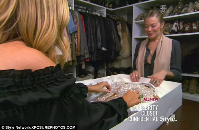'Vegas' style: LeAnn talks Mary through some of her looks, which are then described as being too 'Vegas'