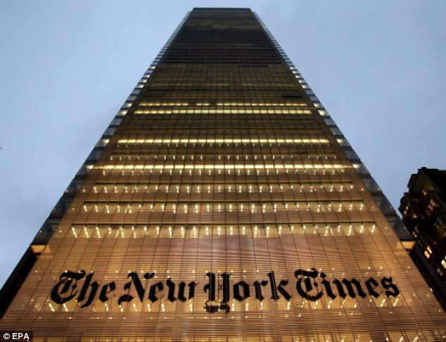 Hacked: The New York Times office in Manhattan. The newspaper has reported that its computer system was breached by Chinese hackers