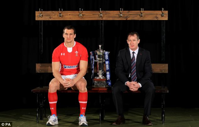 Out of form: Wales captain Sam Warburton (left) and coach Rob Howley begin the defence of their 6 Nations crown on Saturday
