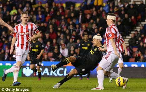 Blip: Stoke haven't won a Premier League game since Boxing Day, and last week blew a 2-0 lead at home to Wigan