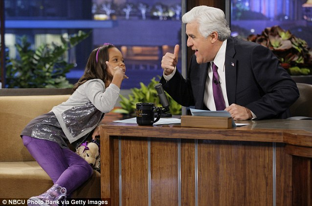 Call her maybe: Quvenzhane told Leno he should call his friend Nicki Minaj during a chat on the show