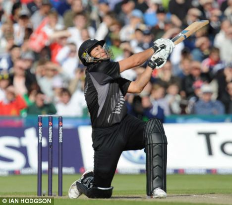 He's back: Former New Zealand captain Ross Taylor (pictured), who lost the captaincy after a falling out with Black Caps coach Mike Hesson, is back in the One Day and Twenty20 squads to face England