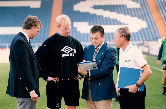Turning up at random: Oldham became the club to be tested under the Football Association's new out-of-competition random drug testing programme in 1994