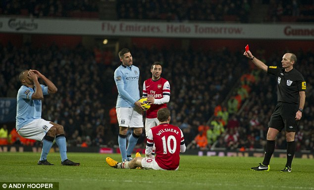 Overturned: Vincent Kompany saw his red card rescinded