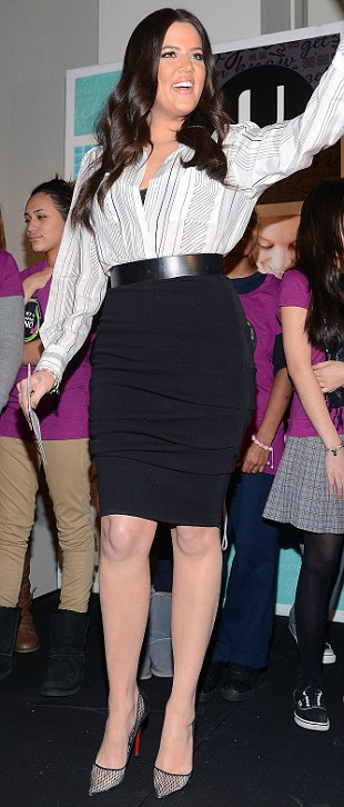Not shy! Khloe is not one to be embarrassed