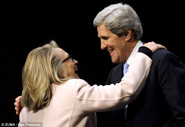 Passing the torch: Mrs Clinton advocated on behalf of Mr Kerry during his Senate confirmation