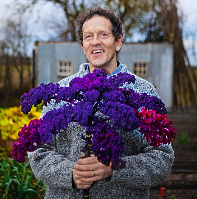 'Red kale, such as the plum-coloured 'Redbor' or 'Red Russian', which has grey-green foliage with deep purple stems, is very handsome and worth growing for its decorative value alone'