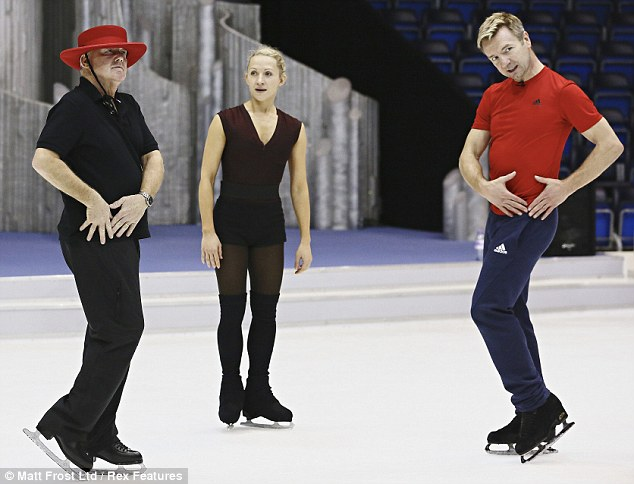 This is how you do it: Olga and Keith's dance is being choreographed by Christopher Dean