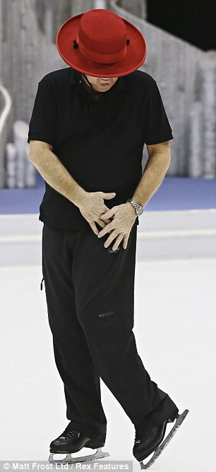 Determination: Keith is hoping to avoid the skate-off this weekend
