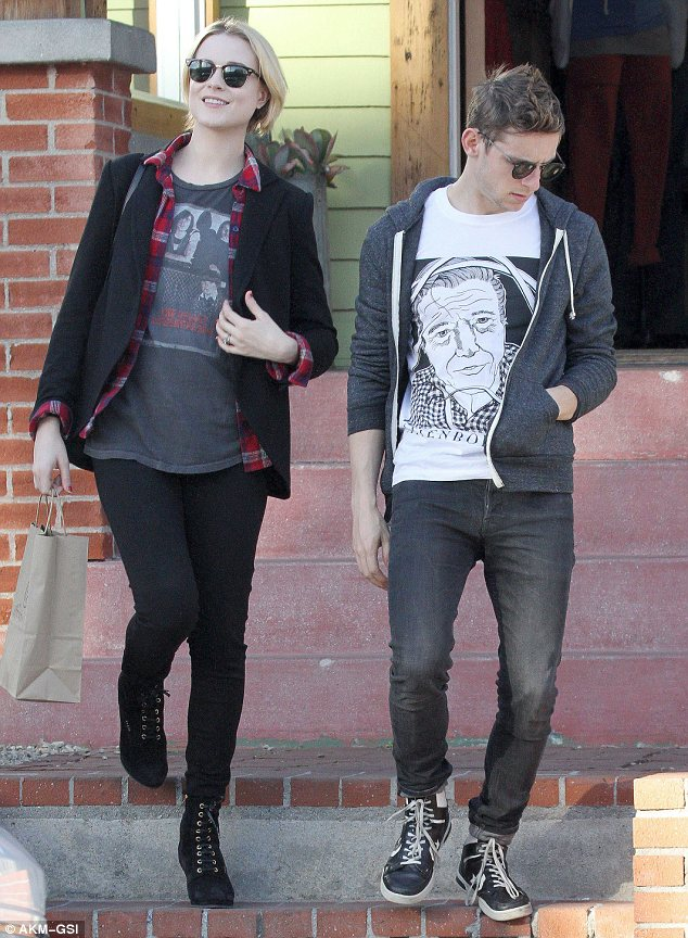 Cool customers: The pair were dressed in a casual fashion for their stroll around Venice