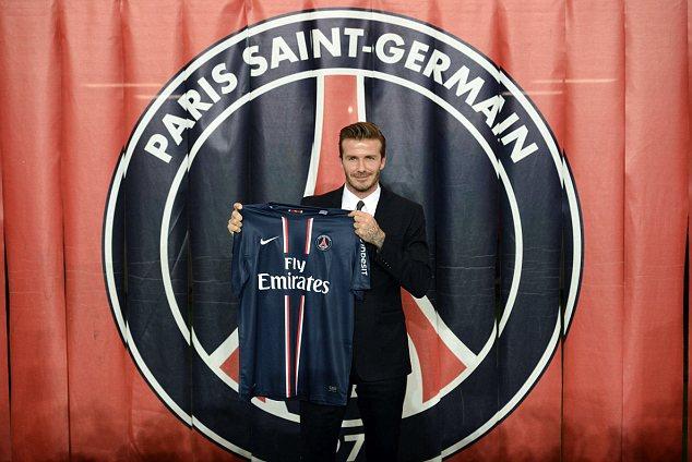 New boy: David Beckham joined Paris Saint-Germain on deadline day