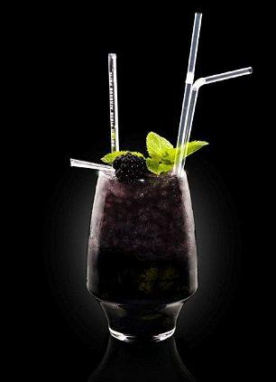 Black Mojito cocktail