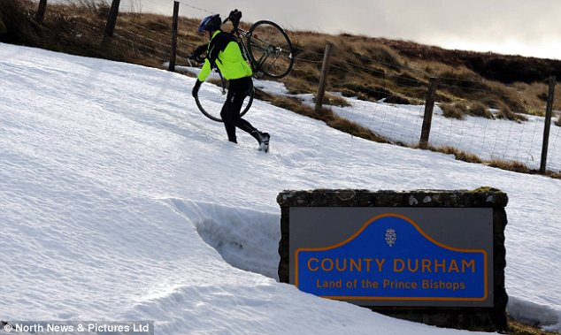 White: Snow in County Durham left over from January's storms as it is set to return in some areas