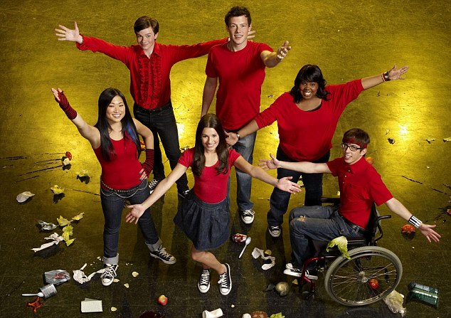 Corey and Lea in Glee