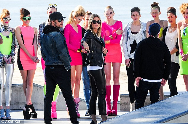 The contestants: The show took the German models to Venice Beach for an 80s-themed photo shoot