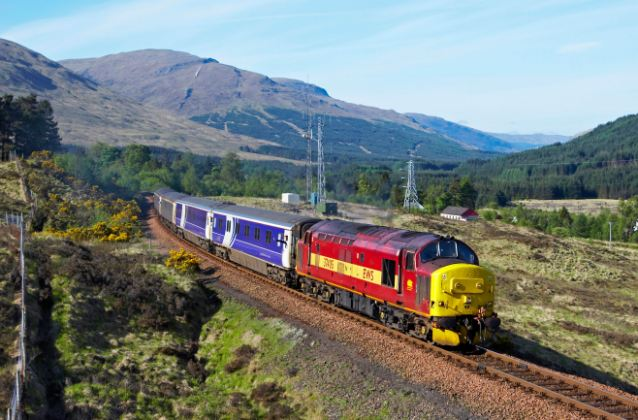 Hotel on wheels: The Caledonian Sleeper en route to Fort William from London