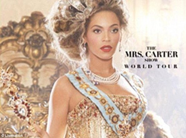 Who Run the World? Live Nation's UK site put up a promotional poster for Beyonce's not-yet-announced world tour dubbed 'The Mrs. Carter Show'