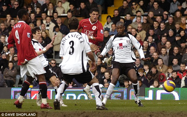 Deja vu: Cristiano Ronaldo scored a late winner against Fulham during United's title-winning year of 2007