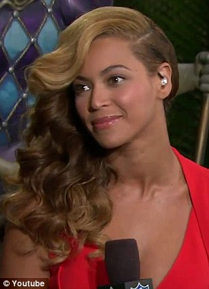 Flawless: Beyonce's skin was glowing and she looked effortlessly chic