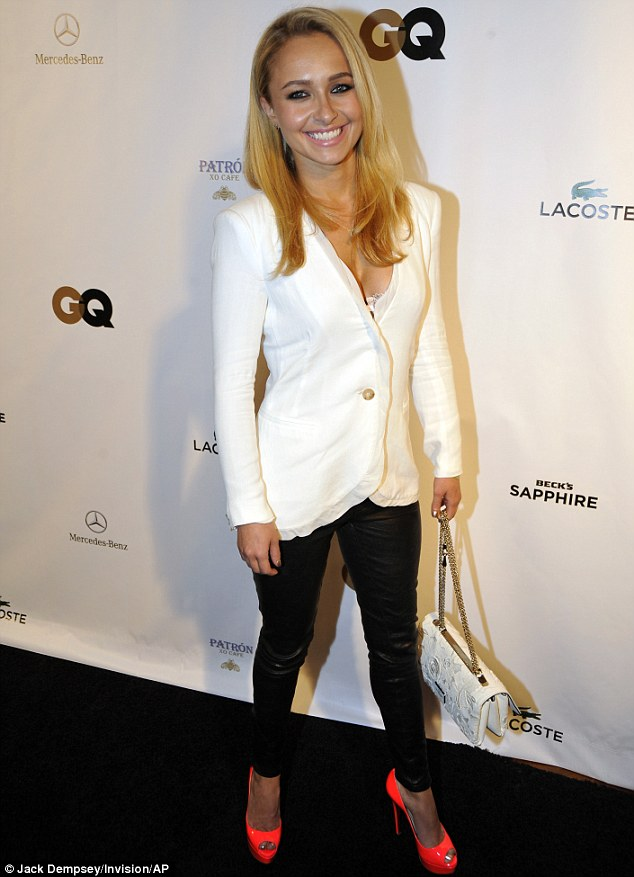 High spirits: Hayden Panettiere smiles on the red carpet for the GQ, Lacoste and Mercedes-Benz Celebration of the Big Game in the Big Easy on Saturday