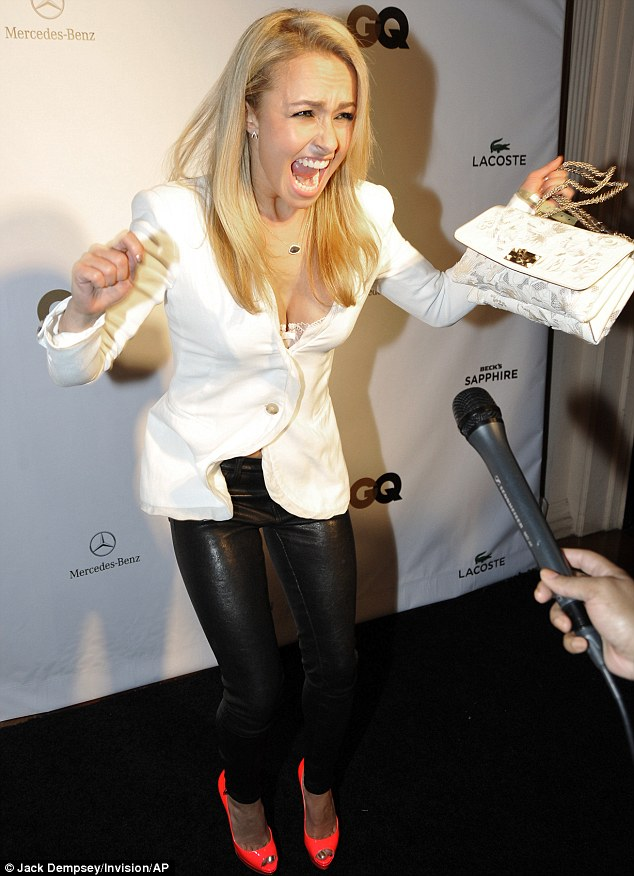 Let's dance: She made up a sporting jig on the black carpet in New Orleans, Louisiana