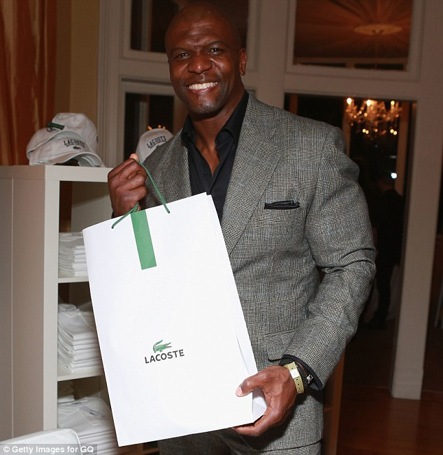 Freebies all around: Terry Crews walked away with a tote full of free gifts