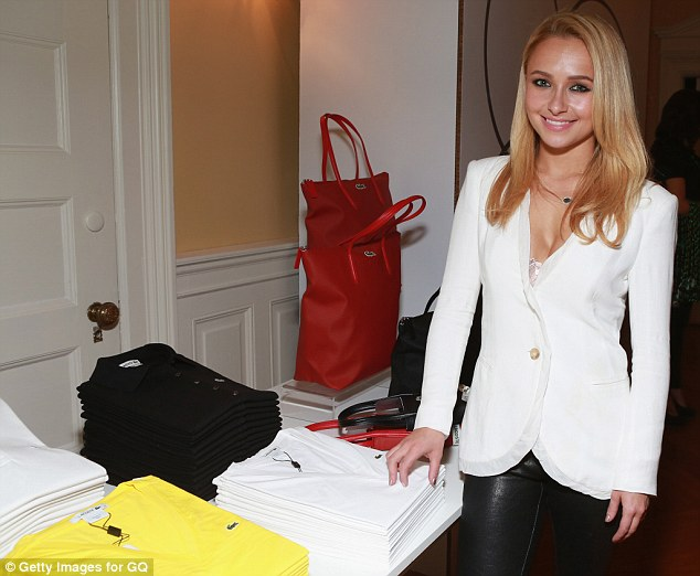 New clothes: Hayden wasn't the only celebrity to take home some sporting apparel